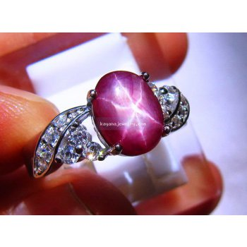 BATU MULIA STAR RUBY LADIES RING  batu permata