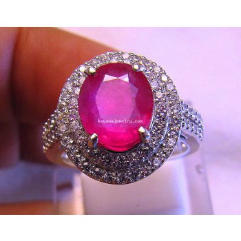 BEAUTIFUL LADIES RING RUBY.  batu permata