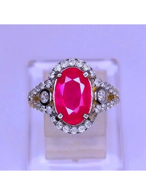 BEAUTIFUL LADY RING RUBY   batu permata