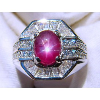 BEAUTIFUL RUBY STAR .  batu permata