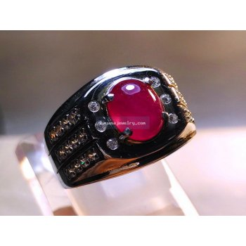 CINCIN BATU RED RUBY  batu permata
