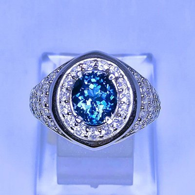 CINCIN LONDON BLUE TOPAZ CLEAN batu permata