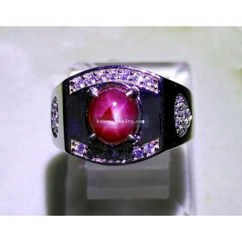 CINCIN RUBY STAR ANTIK RB342  batu permata
