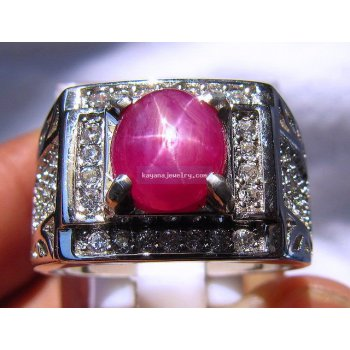 CINCIN RUBY STAR RB286  batu permata