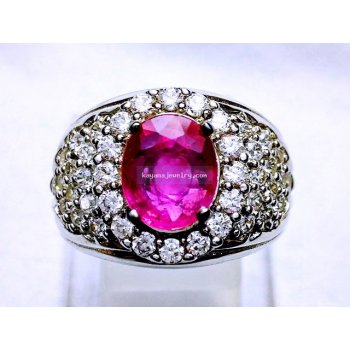 HOT PINK RUBY CRYSTAL  batu permata