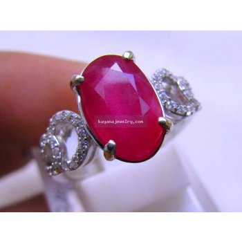 LADY RING RUBY batu permata