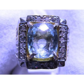 NATURAL AQUAMARINE RING  batu permata