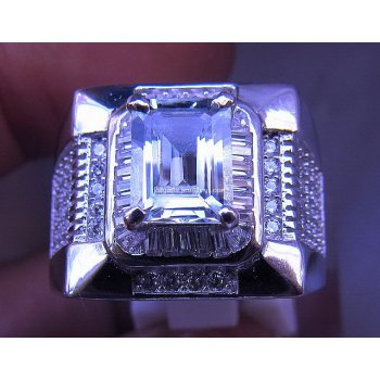 NATURAL AQUAMARINE RING .  batu permata