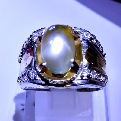 NATURAL MOONSTONES RING batu permata