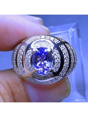 NATURAL TANZANITE RING  batu permata