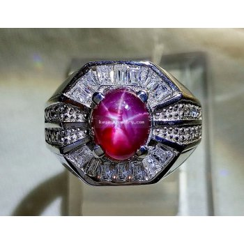 RUBY STAR MICROSETTING RING  batu permata